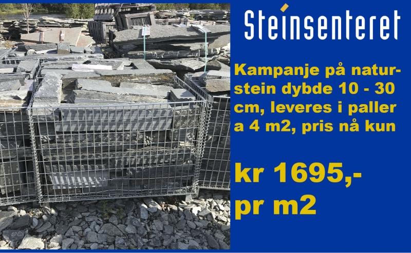 294dadbee Naturstein håndstein 10 - 30 pakket i kasser a 4 m2